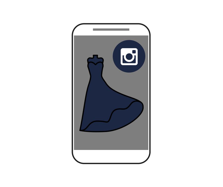 Como Vender roupas na internet - vestido no Instagram