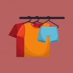 como vender roupas na internet - cabide com roupas