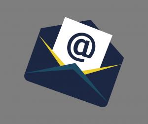 como criar um email personalizado carta com um @ dentro