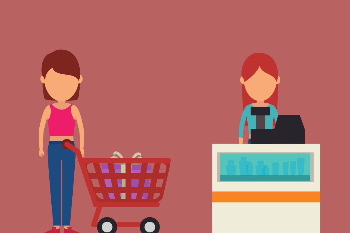 gisele vendendo em sua loja virtual