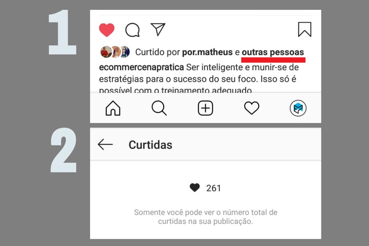 curtidas do instagram como ver